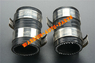 """1x High Temp Rubber Exhaust Coupling Clamp 1/""""ID  For Yamaha Blaster YFS200 Black"""