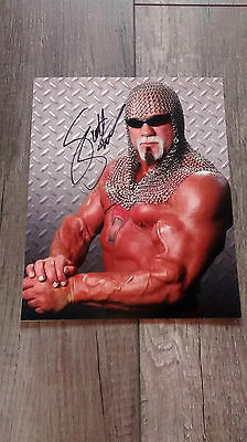 Scott Steiner Big Poppa Pump autographed 8 x 10 photo WWF WCW WWE w/ COA