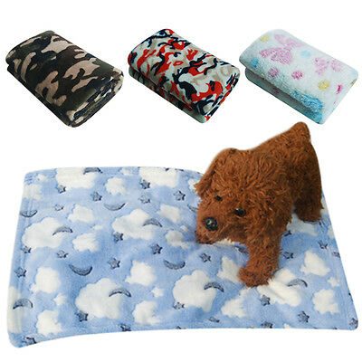 Warm Pet Mat Pad Small Large Pet Cat Dog Puppy Fleece Soft Blanket Bed Cushion F