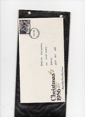First Day Covers-Gb 18Th Nov 1986 Christmas 1986