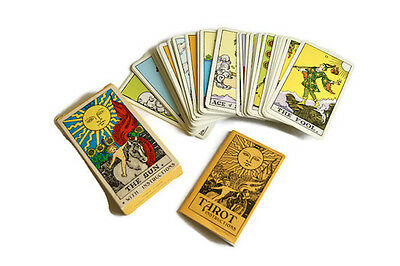 Vintage Tarot Cards With Instructions Authentic Complete 78 Deluxe Edition 1968
