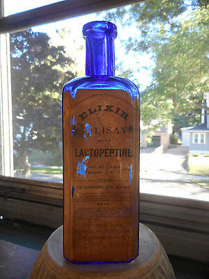 Early Applied Top Variant NEW YORK PHARMACAL ELIXER CALISAYA LACTOPEPTINE Lable