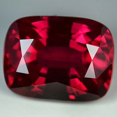 13.65cts. AWESOME AAA BLOOD RED RUBY CUSHION LOOSE GEMSTONE