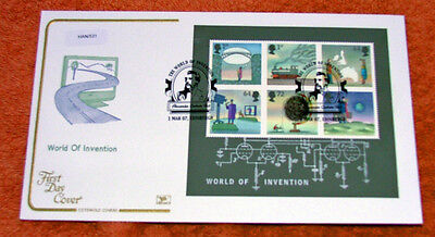 British World Of Invention(Minature Sheet) First Day  Cover 2007