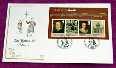 British The House Of Stuart Minature Sheet  First Day Cover 2010