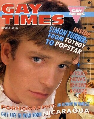 Gay Times Magazine 1987 August Simon Turner, Peter Forster, The Insinuendos