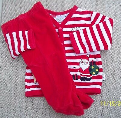 Unisex Girl Boy First Moments MY FIRST CHRISTMAS 2 Pc. Outfit Size 3-6 months