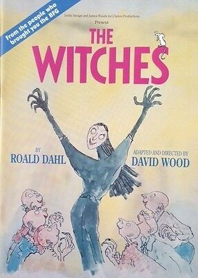 """The Witches"" theatre programme - Roald Dahl - Duke of York's, London (1992)"