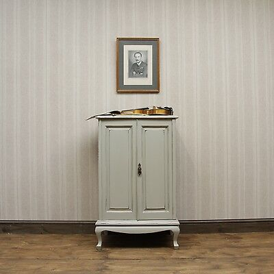 Vintage Painted Sheet Music Cabinet Cupboard, shabby chic, adaptable Cabinet