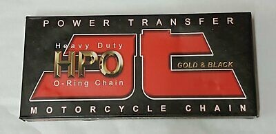 Motorcycle Chain JT 428 x 118 Links O Ring Nickel (Silver) & Black HPO