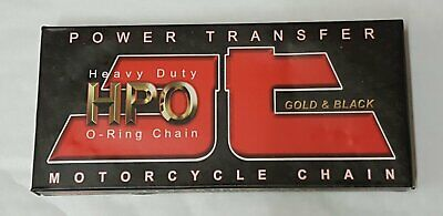 Motorcycle Chain JT 428 x 122 Links O Ring Nickel (Silver) & Black HPO