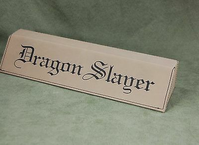 "Personalized Light Brown Laser Engraved Leatherette 10""  Desk Wedge / Nameplate"
