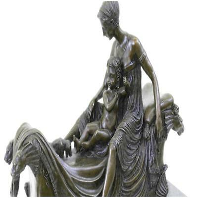 Egyptian Queen Cleopatra Sitting On Royal Bed Statue /Sculpture Hot Cast Bronze
