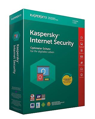 KASPERSKY INTERNET SECURITY 2018 5 PC / Geräte  1 Jahr Vollversion