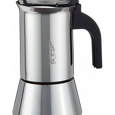 Espresso Maker Elegance Venus Induction 4 Cup Stainless Steel Hot Coffee