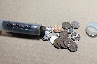 5 Rolls of 1940-1958  Pennies PDS Mint Marks 250 Wheat Cents