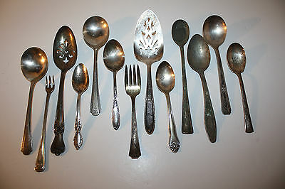 Lot of Old Silverware for Crafts or Jewelry