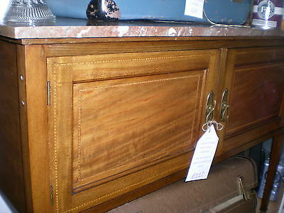 Original Vintage Wash Stand Marble Top with Cupboard on Castors 7 DAY SALE £90