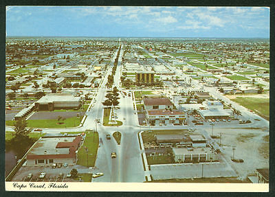 Vintage Cape Coral Aerial View Florida Beach Continental Postcard Old