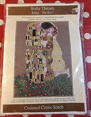 Bothy Threads Klimt: The Kiss Counted Cross Stitch Kit