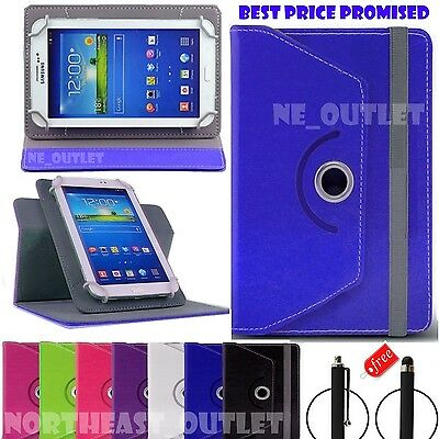 "360°Rotating Smart Case Cover Fits Amazon Kindle Fire 7"" & 8""inch Tablets + Pen"