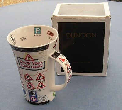 Dunoon Fine Bone China mug Know Your Road Signs design