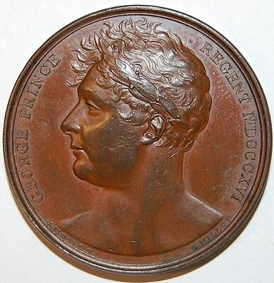 1814-George Iv Treaties Of Paris Medal-Mudie 29