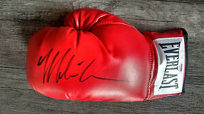 Mike Tyson autographed Everlast red leather boxing glove w/ COA PSA