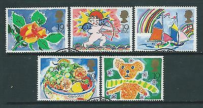 Set of 5 fine used 1989 Greetings stamps SG1423-1427.