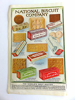 Vintage National Biscuit Co Nabisco & Royal Baking Magazine Print Ad 1910-20's