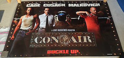 CON AIR official cinema film movie poster vinyl banner publicity material -1997