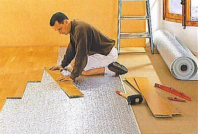 6sqm Laminate, Wood, Parquet Flooring; Reflective Insulation Mat, Underlay
