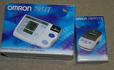 Omron 705-IT Upper Arm Blood Pressure Monitor with Printer