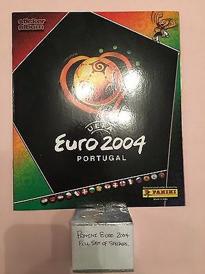 Panini Full Set Of Euro 2004 Football Stickers + Album In Excellent Condition