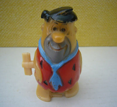 Vintage 1974 Hanna Barbera Fred Flintstone Plastic Wind Up Toy Azrak Hamway