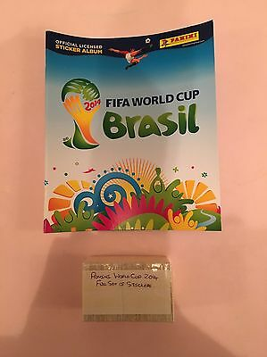 Panini Full Set Of World Cup 2014 Football Stickers + Album In Excellent Conditi