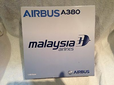 Die Cast Metal Dragon Wings Premiere Model 1:400 Airbus A380 Malaysian Airlines