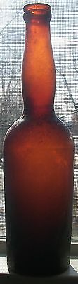 Amber Lady's Leg Base Embossed H Underburg Albrecht Bitters Applied Top 1880S
