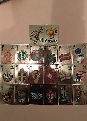 Panini Euro 2004 Portugal Full Set Of Shinnies Stickers. Mint Condition.