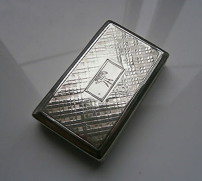Superb Quality Antique Solid Silver Snuff Box c1838 Nathaniel Mills
