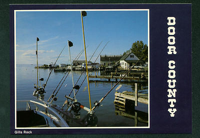 Weborgs Dock Commercial Sports Fishing Rods Wisconsin Continental Postcard