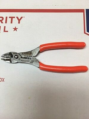 New Snap On  Orange Color Wire Cutter, Stripper And Crimper Pliers.