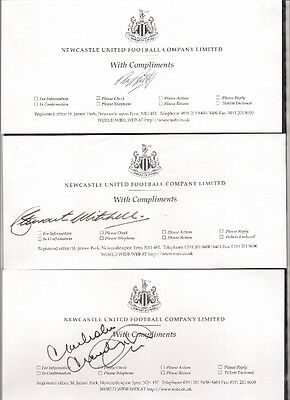 Newcastle United Football Club Compliment Slip signed by Stewart Mitchell.
