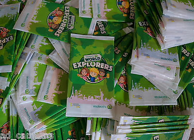 150 Woolworths World Explorers Cards New and Unopened