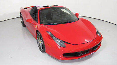 2015 Ferrari 458 2dr Convertible 2015 Ferrari 458 Spider, Rosso Corsa over Black, Low Miles, Lots of Carbon, Nice