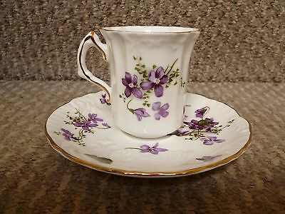 3 X Hammersley Victorian Violets  Coffee Cups And Saucers