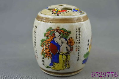 china collectible handwork porcelain paint 8 god exorcism lucky incense burner