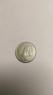 1973 canada 10 cents coin