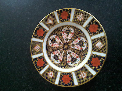 "Royal Crown Derby Old Imari 1128 6 1/4"" Plate 1st Quality. Mint."