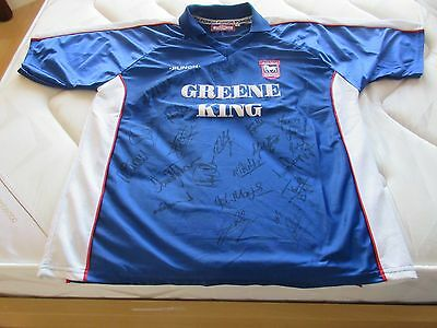 Ipswich Town FC Signed Football Shirt 1999/2001 Extra Large